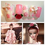 nails for Luncheon Ensemble Barbie Doll❤