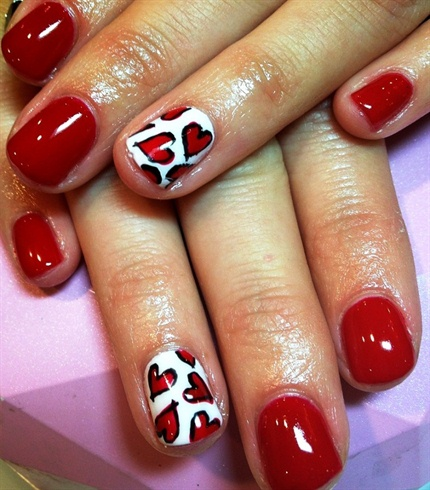 red hearts paint❤