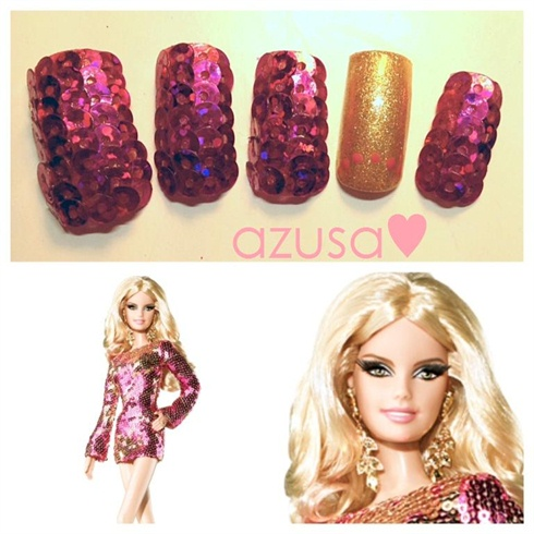nails for Heidi Klum Barbie❤