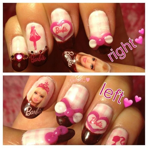 Barbie nail3 nail art gallery barbie nail3 prinsesfo Images