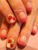 strawberry nail❤