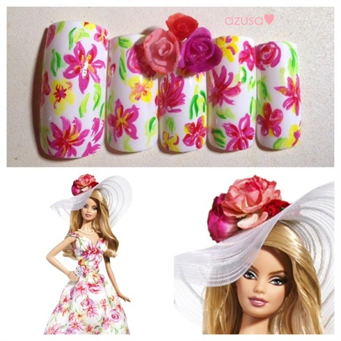 nails for Kentucky Derby Barbie Doll❤