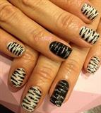 zebra nail❤