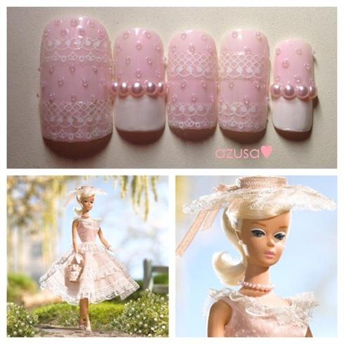 nails for Plantation Belle Barbie Doll❤