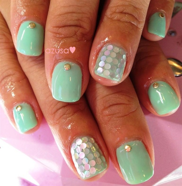 tiffany blue nail art❤ - Nail Art Gallery Tiffany Blue Nails Nail Art Photos