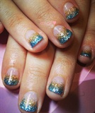 beach color glitter ombre❤