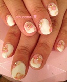 cherry blossom nail❤