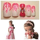 Palm Beach Coral Barbie Doll nail❤