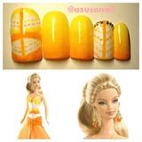 I Dream of Summer Barbie Doll nail❤