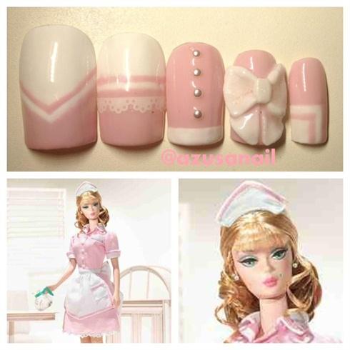 The Waitress Barbie Doll nail❤