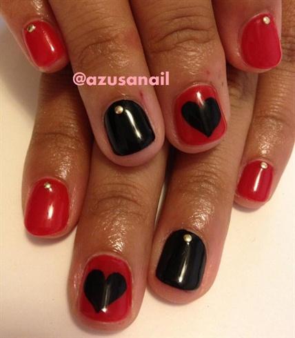 Red And Black Nail Art Nail Art Gallery