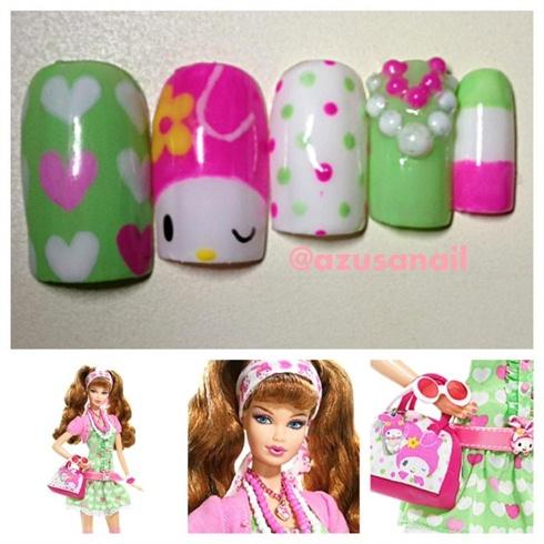 My Melody Barbie Nail❤