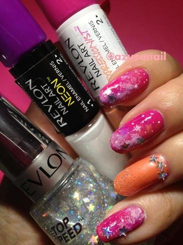 pink galaxy  nail art gallery