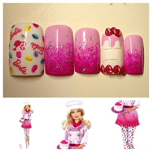 Sweet Chef Barbie Nails♡