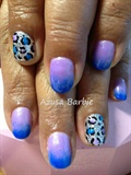 blue leopard nails