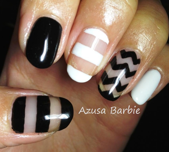 Nail art gallery edgy nail art photos black white and clear nail design prinsesfo Choice Image