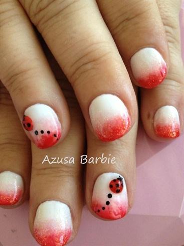 3D ladybug nails