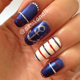 marine look nails