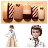 Audrey Hepburn Barbie Nail