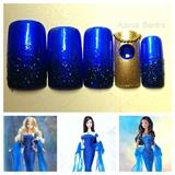September Sapphire™ Barbie® nail