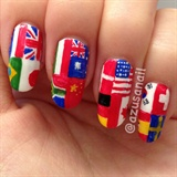world flags nail