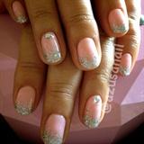 glitter ombre with rhinestones