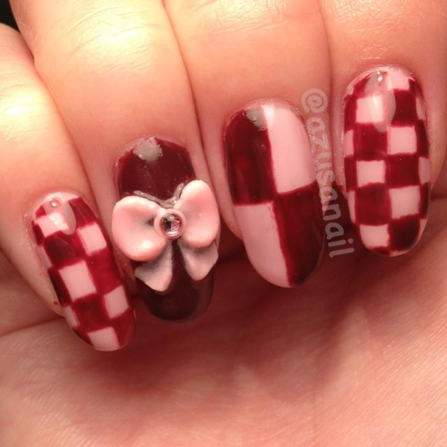 pink and brown nails - Nail Art Gallery