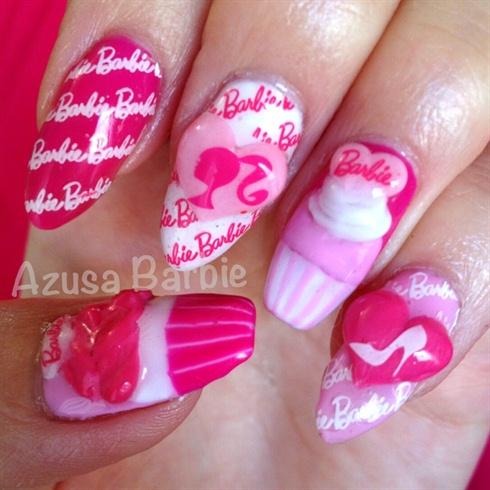 Barbie cupcakes nails♡