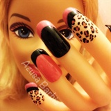 Leopard french nails♡