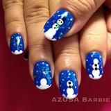 snowman nails♡