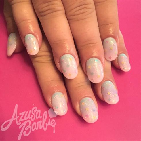 Pastel Glitter Ombré