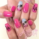 LA Nails w/Palm Trees