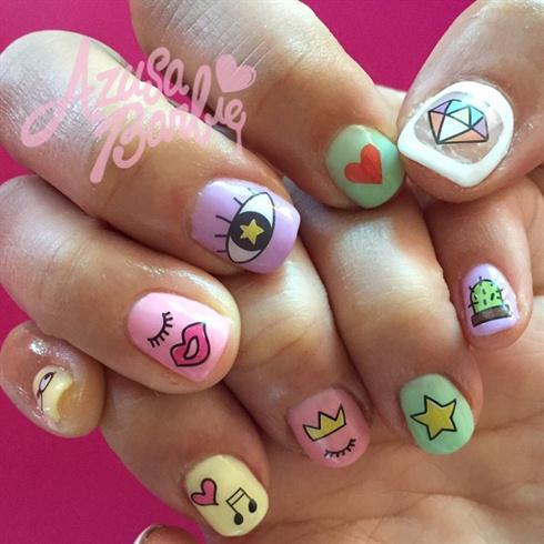 cute pastel nails♡  nail art gallery