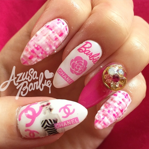Barbie × Chanel Nails