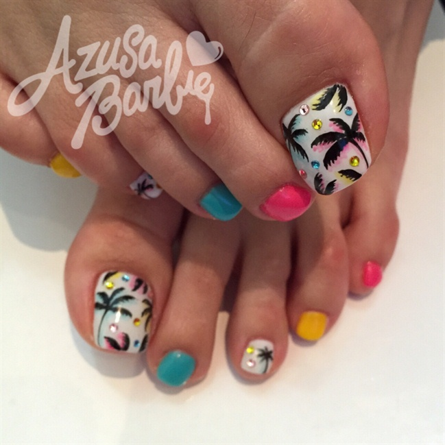 Tropical toes nail art gallery prinsesfo Choice Image