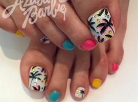 nail art: Tropical Toes