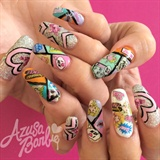 Barbie Comic Nails