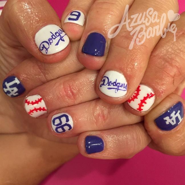 Dodgers Nails Nail Art Gallery
