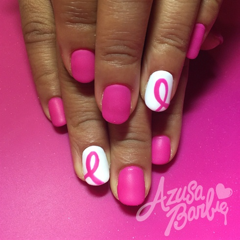 Pink Ribbon Nails Nail Art Gallery