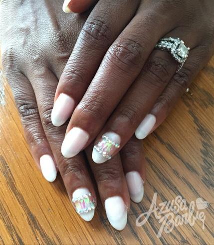 Sheer White Nails