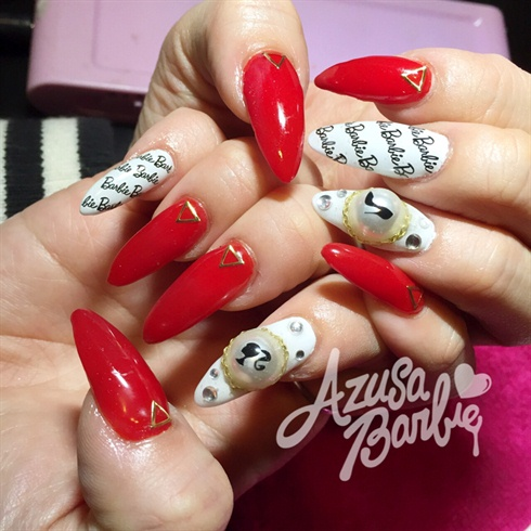 Barbie Red Nails