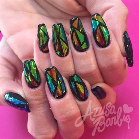 Mirror Foil Nails