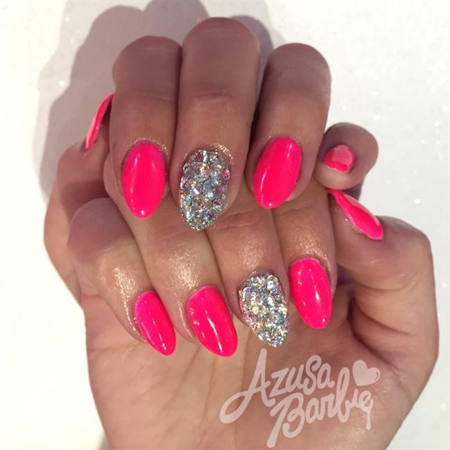 Neon PINK Nails - Nail Art Gallery Neon Pink Nail Art Photos