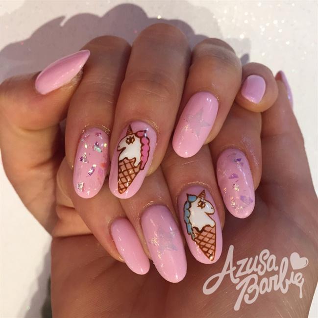 Ice cream Unicorn Nails - Nail Art Gallery