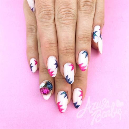 Pink And Blue Gel Design