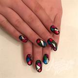 Nail art gallery japanese nail art nail art photos mosaic nails prinsesfo Choice Image