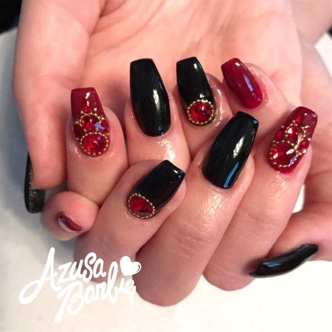 Nail art gallery vampire nail art photos vampire nails prinsesfo Choice Image