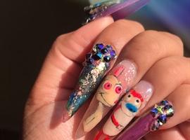 nail art: Ten And Stimpy