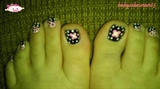 Barbie flower toes
