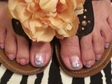 Fun french tip toes